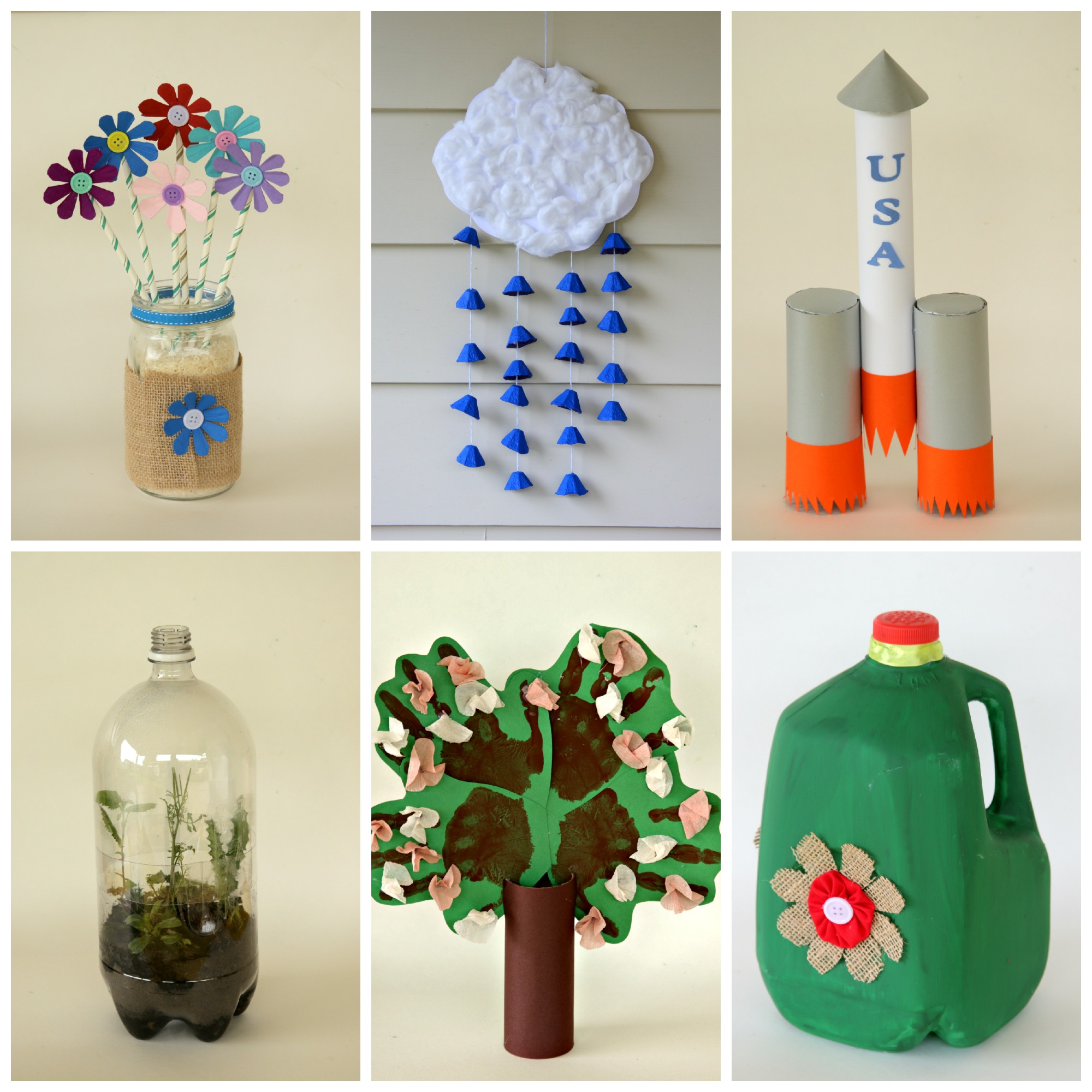 Recycled materials art for kids the for Waste material items