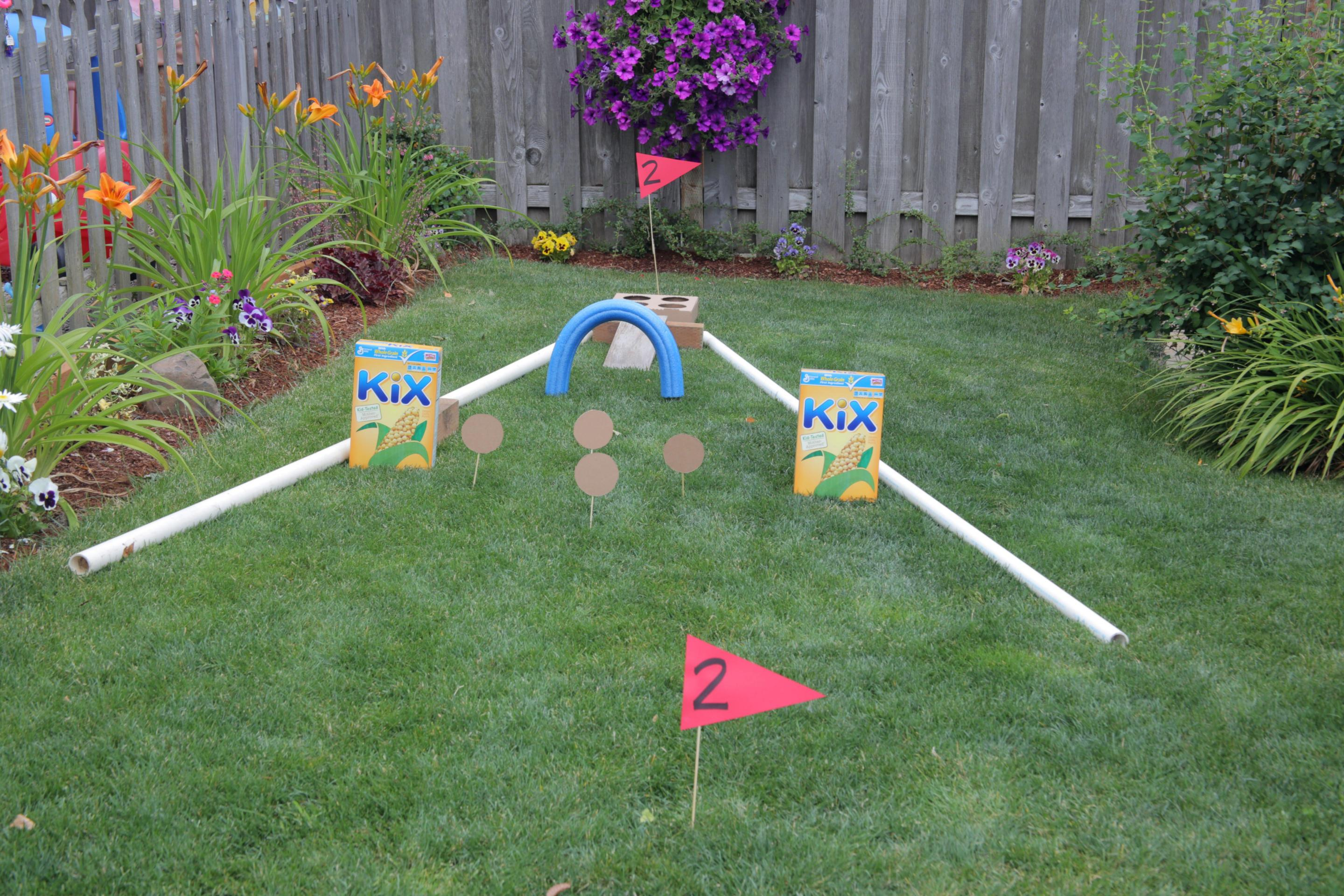 Outdoor Fun Backyard Mini Golf Course · Kix Cereal