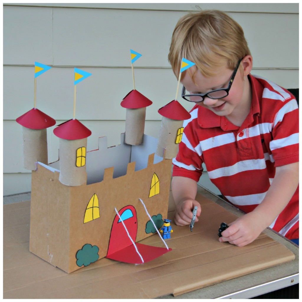 Recycled Cardboard Castle Craft