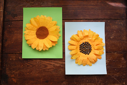 Coffee Filter Sunflower Craft by Amanda Formaro for Kix Cereal