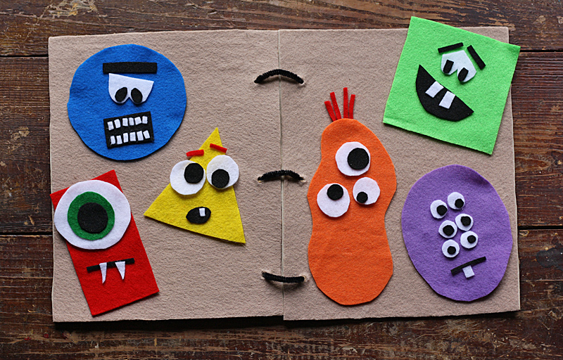 Monster Felt Board Book by @amandaformaro for Kix Cereal