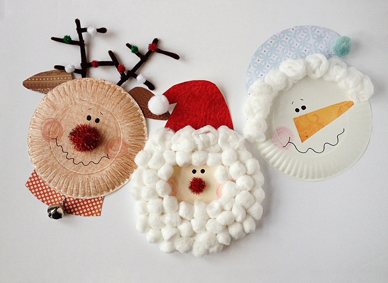 Paper Plate Christmas Characters Santa Rudolph Snowman by @amandaformaro for Kix Cereal : paper plates arts and crafts - pezcame.com