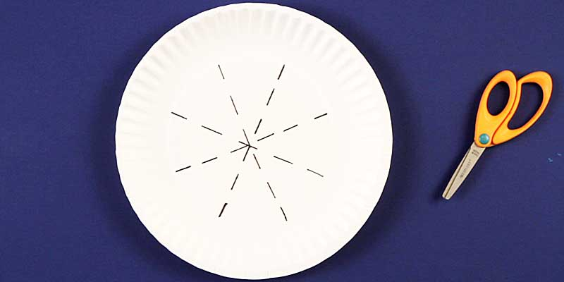 pie lines for cutting & Boredom Buster: Paper Plate Crown Craft · Kix Cereal