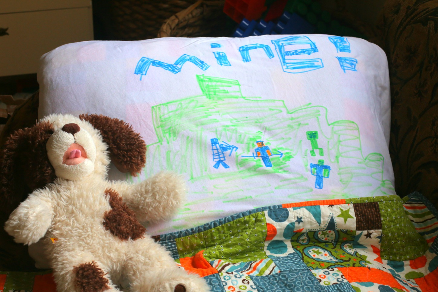 Personalize a pillowcase kid s party kix cereal for White craft pillow cases