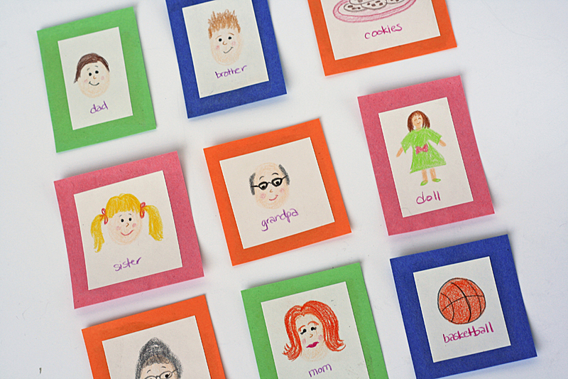 diy match up game for kids