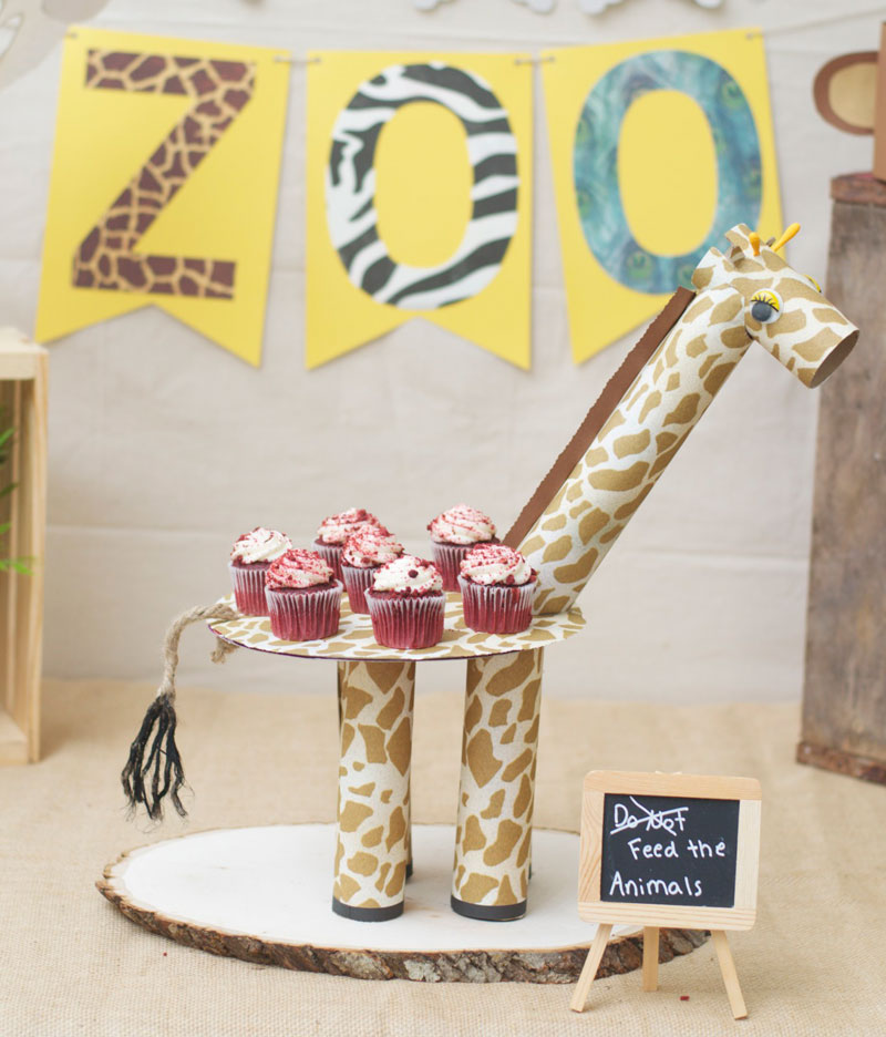 Mom's giraffe cake stand craft