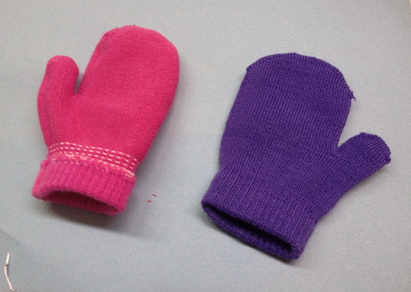 recycled mitten craft
