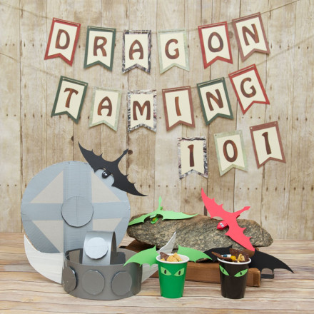 4 fun Viking and dragon party kids crafts
