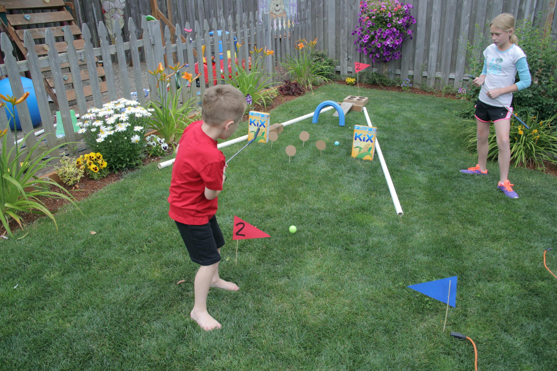 Outdoor Fun Backyard Mini Golf Course 183 Kix Cereal