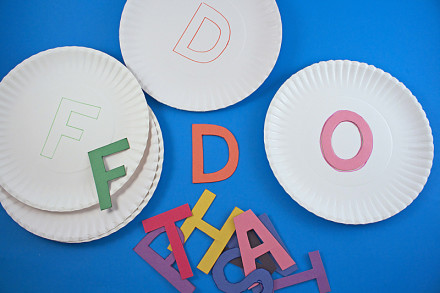 Paper Plate Alphabet Matching Game by Amanda Formaro