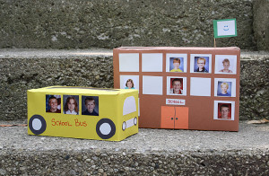 Tissue Box School Bus and Cereal Box School