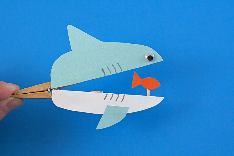 Clothespin Shark by Amanda Formaro