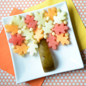 Food Art: A Fall Leaf Fruit Tree