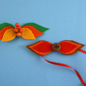 Fall Leaf Bow Tie & Hair Bow