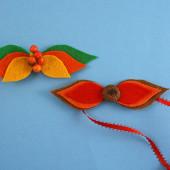 Fall Leaf Bow Tie & Hair Bow