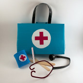 Cereal Box Doctor's Kit